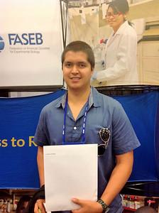 FASEB MARC Travel Award Winner:  Fabricio Saucedo, student at the University of Texas at El Paso
