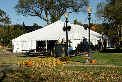 Tent with chocolate tasting and exhibits