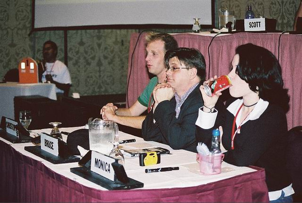 Chrispher Patton, Bruce Lewis, and Monica Rial