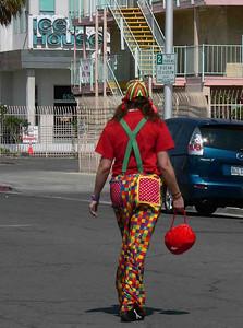 Clown in downtown Las Vegas...who knew?