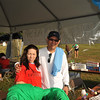 Gina & her father at the registration tent. (Gina was temporarily blinded by the sun).