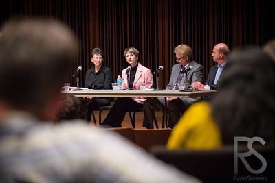 Panel Discussion at the first of 4 Innovative Practice Forums. Taken at the Janet Wallace Fine Arts Center at Macalaster College