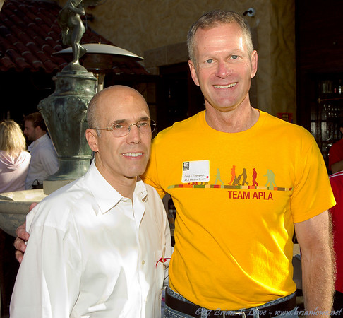 DreamWorks cofounder and APLA board member Jeffrey Katzenberg and APLA Executive Director Craig Thompson