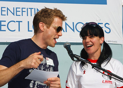 Barrett Foa  (NCIS Los Angeles) &Pauley Perrette (NCIS)  27th ANNUAL AIDS WALK LOS ANGELES