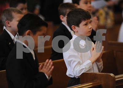 5/4/13--Our Lady of Lourdes- Bethesda, MD  First Communion at Our Lady of Lourdes.    photo: Christy Bowe - ImageCatcher News