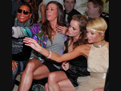 Video of Paris Hilton at Oscar Party, video by Kiki Kalor. Photography stills by Mark Bowers.