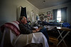 KRISTOPHER RADDER - BRATTLEBORO REFORMER Brattleboro Area Hospice volunteer Stewart McDermet watches over Andy Leclaire when his wife leaves for an appointment on Friday, March 4, 2016.
