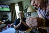 KRISTOPHER RADDER - BRATTLEBORO REFORMER<br /> Kathy Krasnow, a registered nurse for BAYADA Home Health Care, shows Kathleen Leclaire how to measure out morphine to treat Andy's growing pain levels on May 19, 2016.
