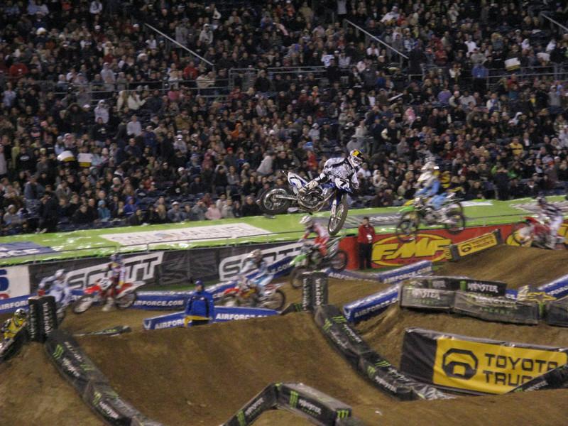 Another shot of Stewart jumping.