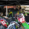 Alex checking out a Monster Energy Kawasaki.