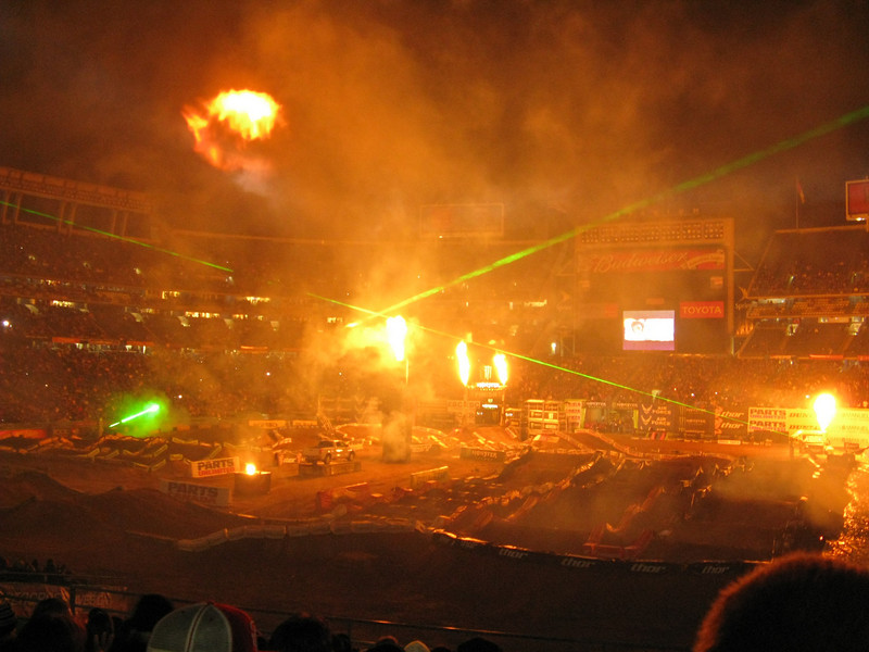 They had some huge propane cannons that would go off in front of us and you could feel the heat.