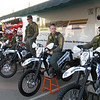Riverside County Sheriffs on dirt bikes.