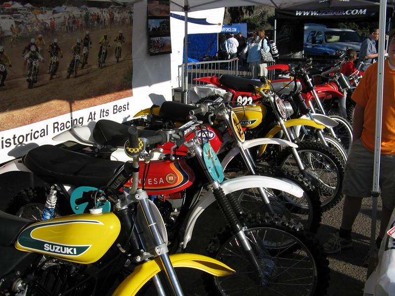 Some nice vintage MX bikes on display.