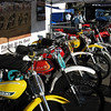 Some nice vintage MX bikes on display.