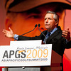 Gary gesturing to the audience during his keynote speech at the APGS 2009.