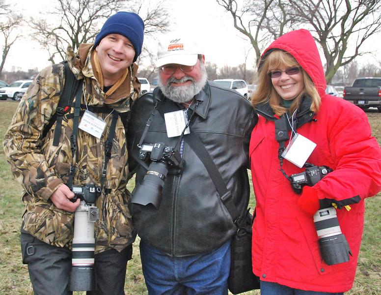 Omaha Camera Club members Brian Alspaugh, George Sinos and Sue Baxter.