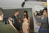 E! personality Jason Kennedy being interviewed by Jillian Rabe