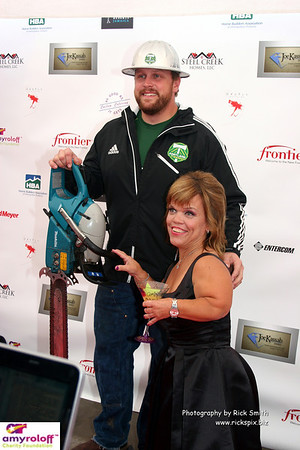 Timber Joey (Webber) with Amy on the red carpet