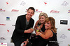 Jason Kennedy, Lisa, and Amy on the red carpet