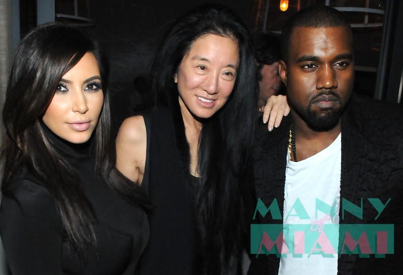 Kim Kardashian, Vera Wang, Kanye West