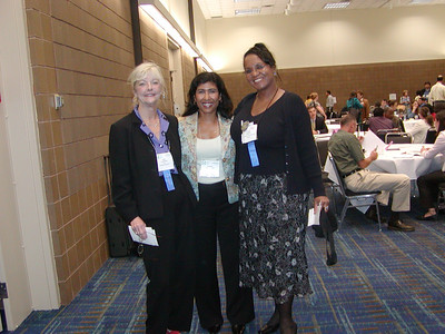 "ASHG 2006 - Career Center ""Meet 'n Greet"": Jane Salomon (ASHG), Dr. Loraine A. Oman-Ganes (FASEB Board member for ASHG) and Jacquie Roberts (FASEB.)"