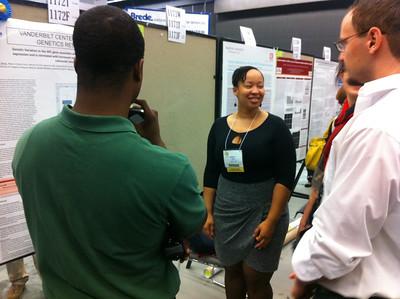 Marquita White presentes her poster at ICHG/ASHG 2011 Annual Meeting