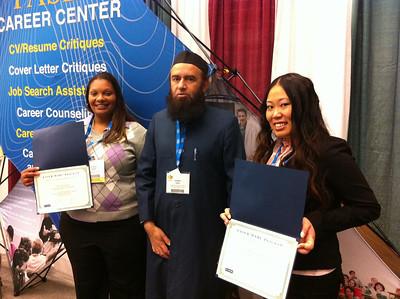 FASEB MARC Travel Award winners:  Ms. Clarice Gumm, Dr. Nadeem Fazal and Margarita Kim of Chicago State University.