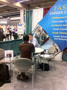Joe Tringali conducts career counseling session.
