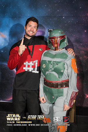 Star Wars vs Star Trek party 11-14-15