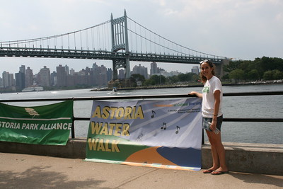 Elizabeth  Bloch the Artist designer of the Astoria Park Alliance 2010 brochure and banners.