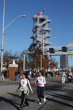 ATC Half Marathon finish, Nov. 24, 2011