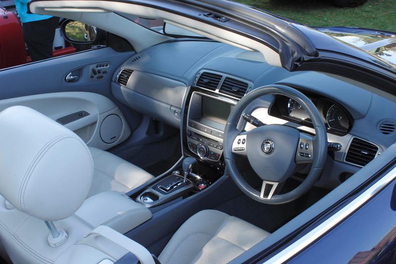Inside the new Jaguar XK8 at the ATCCC Putteridge Bury Classic Car Show 2011