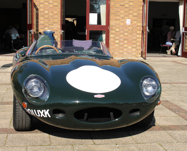 1950s Jaguar D Type racing car at the ATCCC Putteridge Bury Classic Car Show 2011