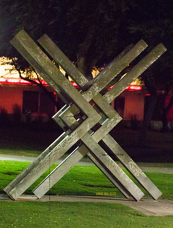 X sculpture Civic Ctr 7374