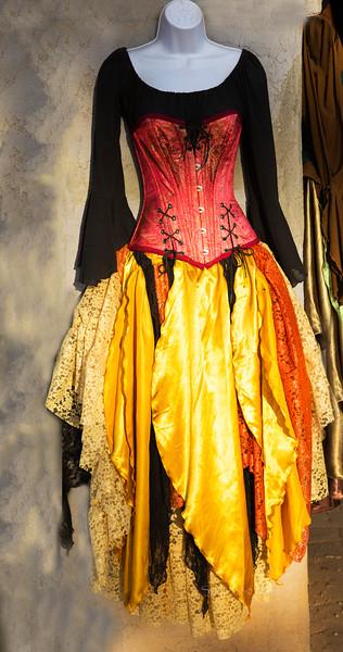 Satin dress & bustier 8681