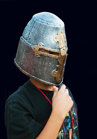 Boy in iron Renassiance mask 8815