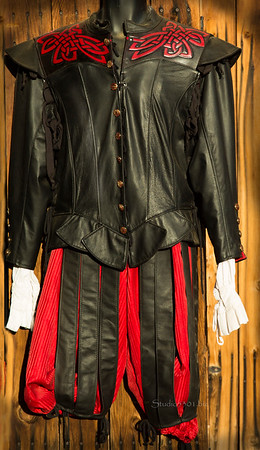 Black leather costume mens 8646