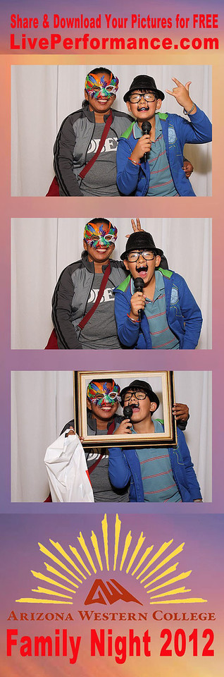 AZ Western College Family Night 2012 Photo Booth Photo Strips