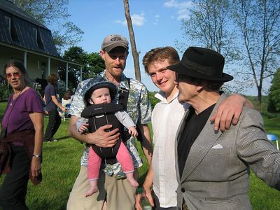 Erik (Abe's Advisor) with young daughter, Abe, and  Toby
