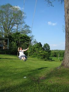 Big swing at Lower Farm