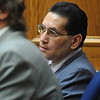 ABEYTA17.JPG ABEYTA17<br /> Joseph Abeyta, accused of murdering his friend, William Andrews, in north Boulder in January 2009, listens to testimony during his trial on Tuesday morning.<br /> <br /> Photo by Marty Caivano/Camera/Oct. 20, 2009/