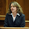 ABEYTA23.JPG ABEYTA23<br /> Agent Mary Schleicher, with the Colorado Bureau of Investigations, testifies that the blood found in Joseph Abeyta's car was a DNA match to swabs taken from William Andrews. <br /> <br /> Photo by Marty Caivano/Camera/Oct. 20, 2009/