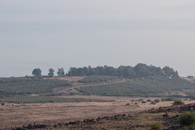 The hill near the Sea of Galilee, Israel, believed to be the location of the Sermon on the Mount.