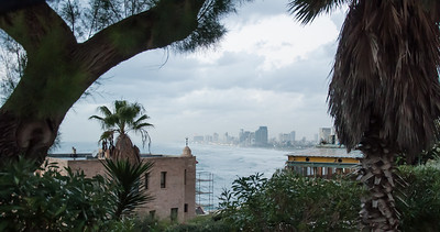 A view of Tel Aviv as seen from the city of Old Jaffa, Israel.