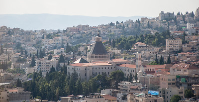 A view of the Church of the Annunciation in Nazareth, Israel.