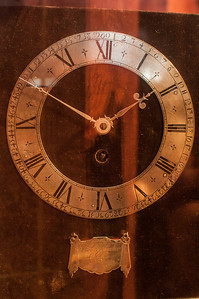 This is one of the first pendulum clocks ever made. The pendulum clock was invented by Dutch scientist and astronomer Christiaan Huygens.