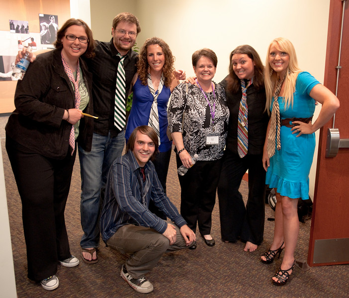 (From left to right, standing) Mandy Wilson, Darren Whorton, Rachel Whorton, Becki Glover, Melissa Lancaster, Kim Lancaster, and Anthony Lancaster (kneeling)