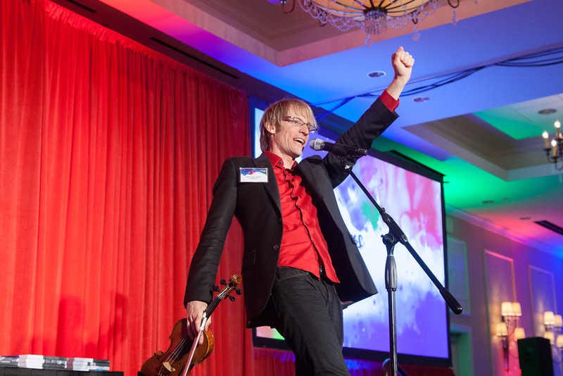 Musician Kyle Dillingham gave the keynote address at this year's Journal Record Achievers Under 40 awards.