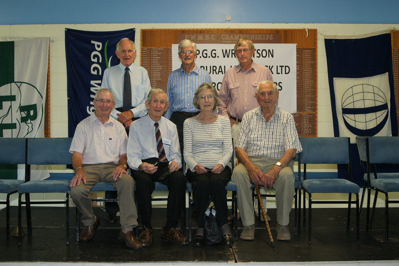 Pic 7296 Matson & Co<br /> Standing Maurice Henry, Bob Petherham, Ken Abrams<br /> Front Row Jocky Yates, Newton Brown, Lesley Barnett (nee Matson) Keith Palmer