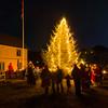 Kindle Christmas Tree in Nyksund - the tree is lit